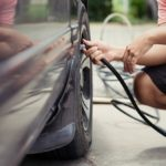 filling a flat tire